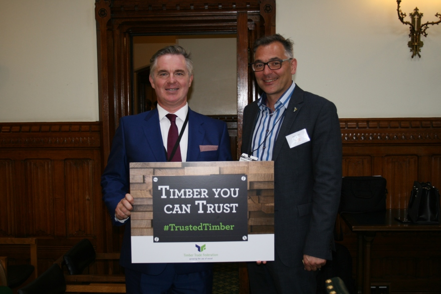 Colin Clark MP and David Hopkins