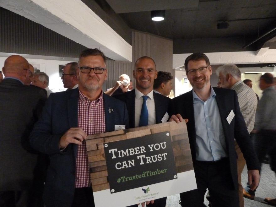 Peter Clifton (Medite Smartply), David Murray (Medite Smartply), Alex Campbell (Steico UK)