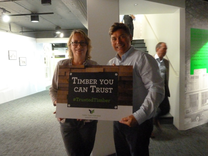 Janet Sycamore (TDCA) and Andrew Hodge (Lonza Wood Protection)